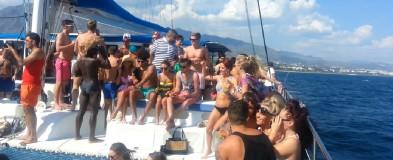 Fiestas a bordo por la costa del Sol, Marbella